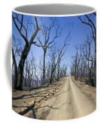 A Dirt Road Runs Along A Mountain Top Coffee Mug