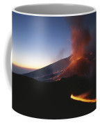 A Fiery New Cone On Mount Etna Upstages Coffee Mug