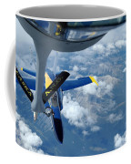 A Kc-135 Stratotanker Refuels An Fa-18 Coffee Mug by Stocktrek Images