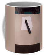 A Microphone On The Lectern Of A Presentation Room Coffee Mug