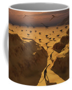 A Mixed Herd Of Dinosaurs Migrate Coffee Mug