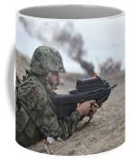 A Peruvian Marine Assaults A Beach Coffee Mug