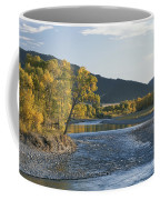 A Scenic View Of The Yellowstone River Coffee Mug