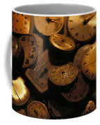 A Still Life Of Old Watch Faces Coffee Mug