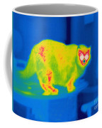 A Thermogram Of A Long Haired Cat Coffee Mug