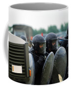 A Training Session In Riot And Crowd Coffee Mug by Luc De Jaeger