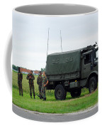 A Unimog Vehicle Of The Belgian Army Coffee Mug by Luc De Jaeger