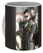 A U.s. Marine Gets Suited Coffee Mug