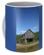 Abandoned Old Farm Building With Blue Sky Coffee Mug