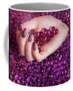 Abstract Woman Hand With Purple Nail Polish Coffee Mug