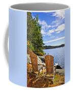 Adirondack Chairs At Lake Shore Coffee Mug