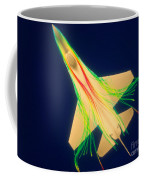 Air Flow Over F-16 Jet Fighter Coffee Mug