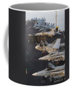 Aircraft Parked On The Flight Deck Coffee Mug