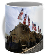 American Flags Are Displayed Coffee Mug