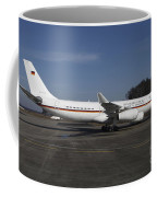 An Airbus 340 Acting As Air Force One Coffee Mug by Timm Ziegenthaler