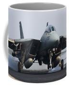 An F-14d Tomcat Makes An Arrested Coffee Mug