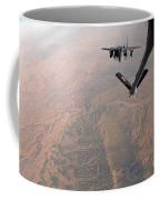 An F-15e Strike Eagle Is Refueled Coffee Mug