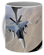 An F-16 Fighting Falcon Receives Fuel Coffee Mug by Stocktrek Images
