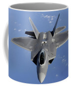 An F-22 Raptor Moves Into Position Coffee Mug