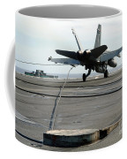 An Fa-18c Hornet Makes An Arrested Coffee Mug