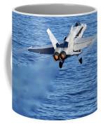 An Fa-18c Hornet Taking Off Coffee Mug