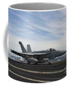 An Fa-18f Super Hornet Takes Coffee Mug