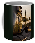 An Oh-58d Kiowa During Sunset Coffee Mug