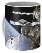 Astronaut Working On The International Coffee Mug