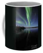 Aurora Borealis Over Long Lake Coffee Mug
