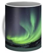 Aurora Borealis Over Prosperous Lake Coffee Mug