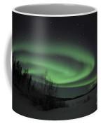 Aurora Borealis Over Vee Lake Coffee Mug