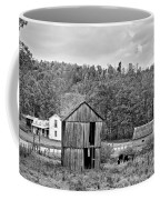Autumn Farm Monochrome Coffee Mug by Steve Harrington
