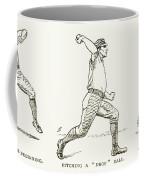Baseball Pitching, 1889 Coffee Mug