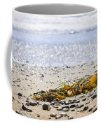 Beach Detail On Pacific Ocean Coast Coffee Mug by Elena Elisseeva