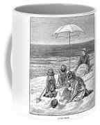 Beach Scene, 1879 Coffee Mug