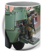 Belgian Infantry Soldiers Exit Coffee Mug