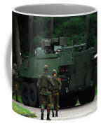 Belgian Infantry Soldiers Walk Coffee Mug by Luc De Jaeger