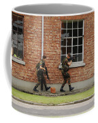 Belgian Soldiers On Patrol Coffee Mug by Luc De Jaeger
