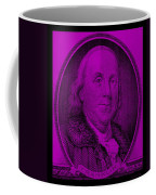 Ben Franklin In Purple Coffee Mug