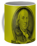 Ben Franklin In Yellow Coffee Mug