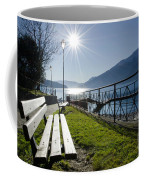 Bench In Backlight Coffee Mug