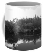 Big Sky On The North Fork River In Black And White Coffee Mug