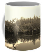 Big Sky On The North Fork River In Sepia Coffee Mug