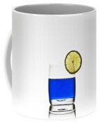 Blue Cocktail With Lemon Coffee Mug