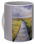 Boardwalk Along The Salt Marsh Coffee Mug