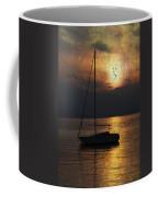 Boat In Sunset Coffee Mug by Joana Kruse