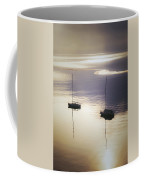 Boats In Mist Coffee Mug