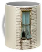 Broken Window In Abandoned House Coffee Mug by Jill Battaglia