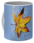 Burnished Gold On Wood Coffee Mug