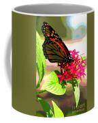 Butterfly Flowers Coffee Mug